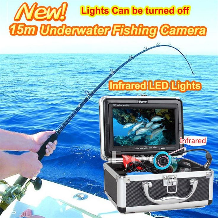 Eyoyo 15m 7' Lcd Infrared Led Light 800*480p Monitor 1000Tvl Underwater Camera Ice/Sea Fishing Fish Finder With Lights Control and Keychain * Details can be found by clicking on the image.