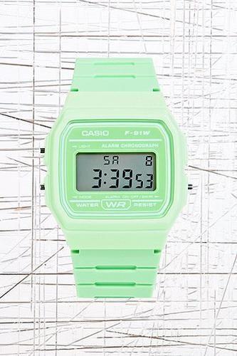Casio Digital Watch in Green #accessories #covetme #casio