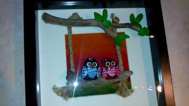 my creations : καδράκια με θαλασσόξυλα και βότσαλα
