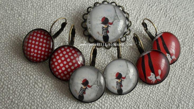 Brooch & earrings....