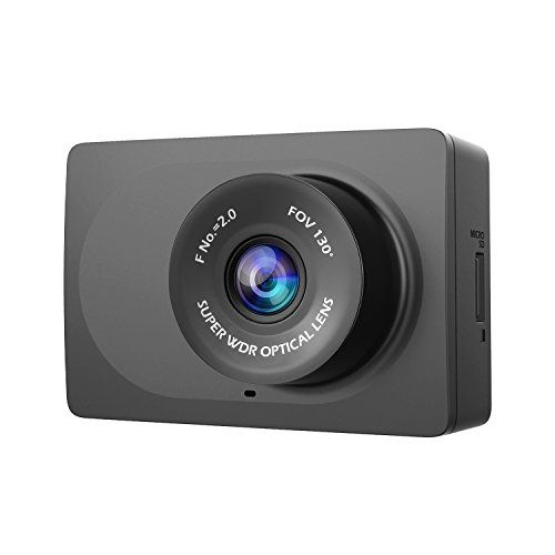 YI Compact Dash Cam 1080p Full HD Car Dashboard Camera with 2.7 LCD Screen 130 WDR Lens G-Sensor Night Vision Loop Recording