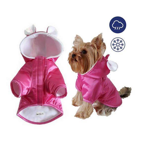 Manteau pour petit chien, manteau pour chien imperméable à l'eau, manteau pour chien, veste chien, manteau d'hiver pour chien, veste imperméable, veste d'hiver chien, manteau pour chien polaire, veste de polaire de chien, Tenue de chien, pour les petits animaux de compagnie, Yorkie