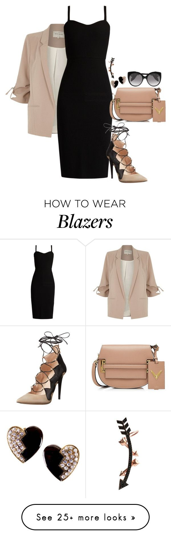 """Arsenic"" by chelsofly on Polyvore featuring River Island, MaxMara, Ruthie Davis, Valentino, Yves Saint Laurent, Alexander McQueen and Wild Hearts"