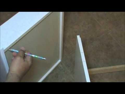 Kv 8450fm Drawer Slide Installed In A Frameless Cabinet Youtube Frameless Cabinets Drawer Slides Soft Close Drawer Slides