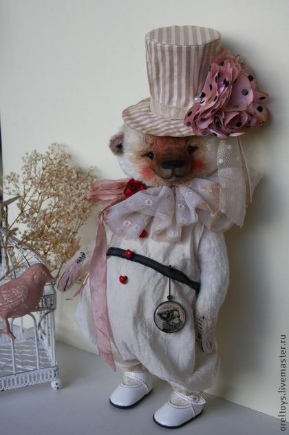 Мишки Тедди ручной работы. Ярмарка Мастеров - ручная работа Бонни. Handmade.