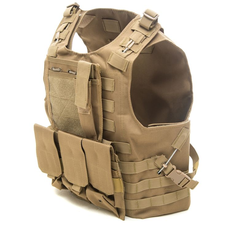 38.61$  Buy now - http://alik2w.shopchina.info/1/go.php?t=32797790911 - Ripstop Fabric Amphibious Military Body Armor Plate Carrier Tactical Vest Airsoft Gear Molle Mag Ammo Chest Rig Paintball Arm  #SHOPPING