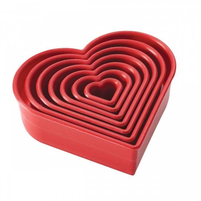 Cake Boss 7 Piece Heart Cutters Set