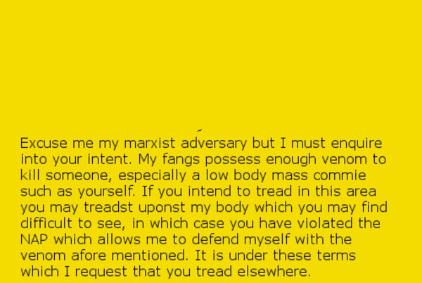 I requesteth for thou to leave myself alone. | Gadsden Flag / Don't Tread On Me | Know Your Meme
