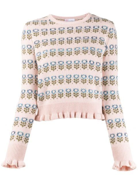 Red Valentino Red Valentino Floral Knitted Jumper Redvalentino Cloth
