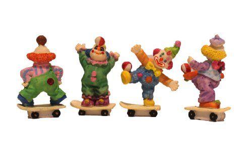 4 Piece Clown on Skating Board Figurine Porcelain Miniature Party Favors Figure Inc,http://www.amazon.com/dp/B00DMIU5FM/ref=cm_sw_r_pi_dp_owrltb06RWKFD315