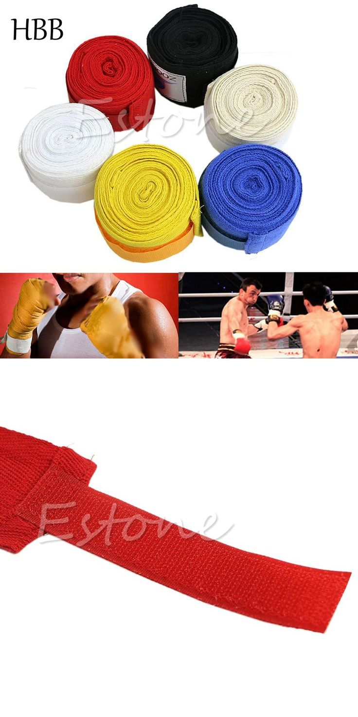 [Visit to Buy] HBB Protect 1Pair Boxing Hand Wraps Boxing Bandages Wrist Protecting Fist Punching High Quality For Boxing Martial Arts & MMA #Advertisement