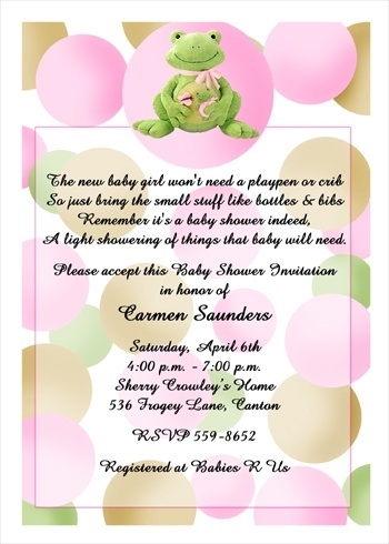 Baby Shower Pink Frog Invites, Exclusively At Www.CardsShoppe.com With Same  Day
