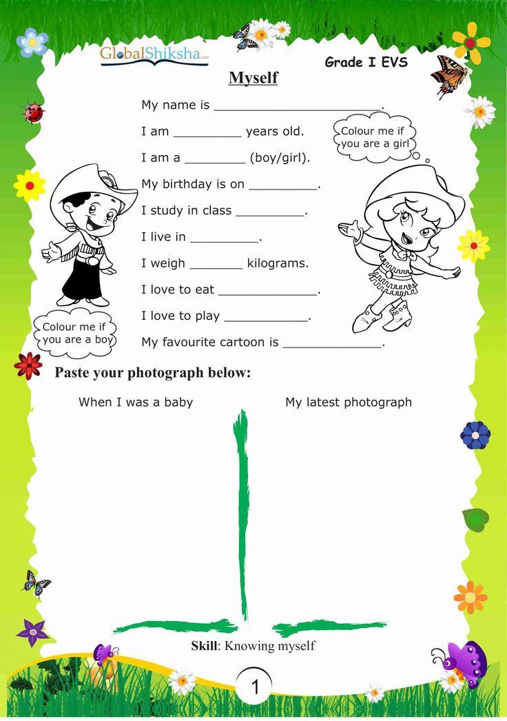 Worksheets for Kindergarten Evs in 2020 Worksheets for
