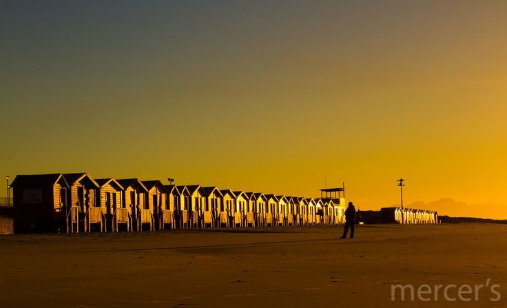 The bathing huts at Muizenberg Beach, Cape Town