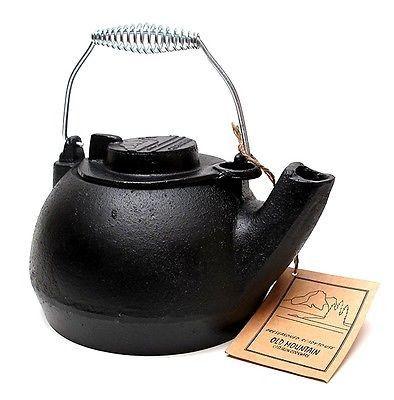 New Old Mountain Cast Iron Pre Seasoned Tea Kettle Wood Stove Humidifier