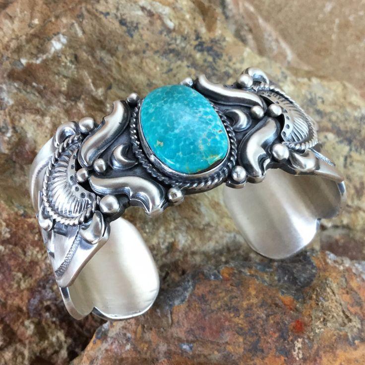 Kingman Turquoise Sterling Silver Bracelet