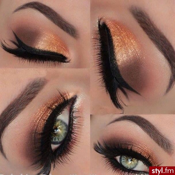 Beautiful colors! this look can also be achieved using the New COLAIR from DINAIR airbrush make-up. Using lady luck as the base color and the espresso on the crease. http://www.airbrushmakeup.com/colair/colorChart.php