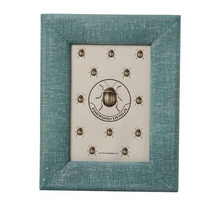 Stylish linen photo frame.