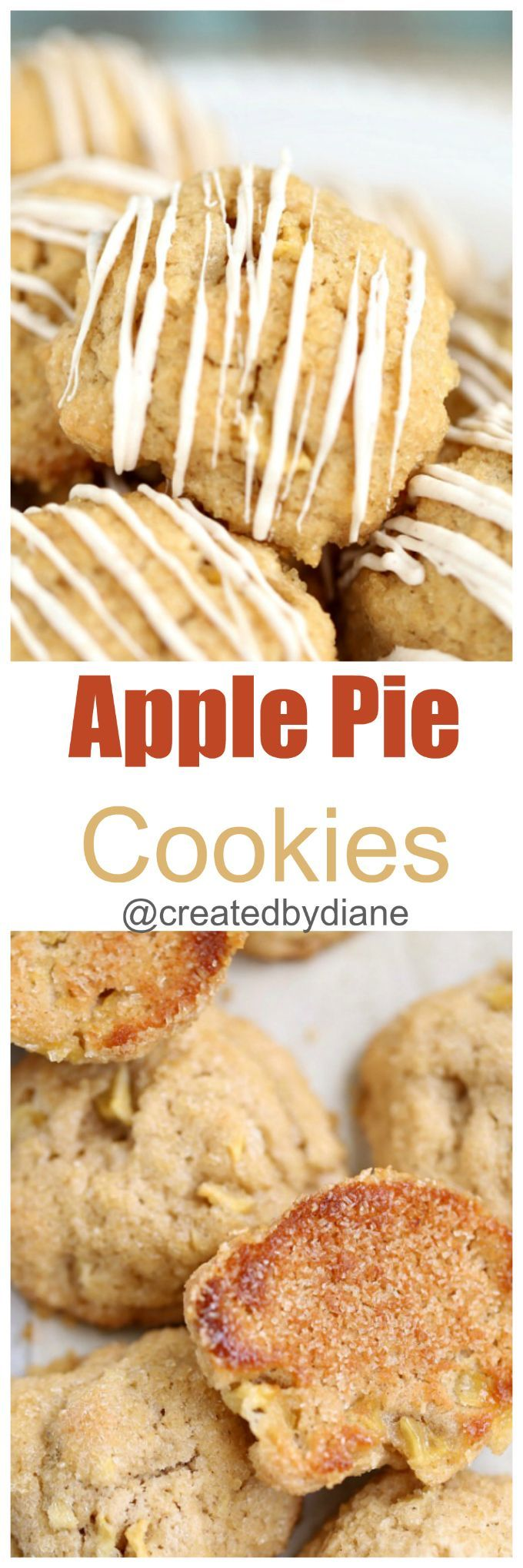 apple-pie-cookies are THE thing to make, they are easier than pie and only take 1 apple to make and are ready quickly, the caramelized sugar bottoms taste like pie crust, these are insanely delicious. @createdbydiane