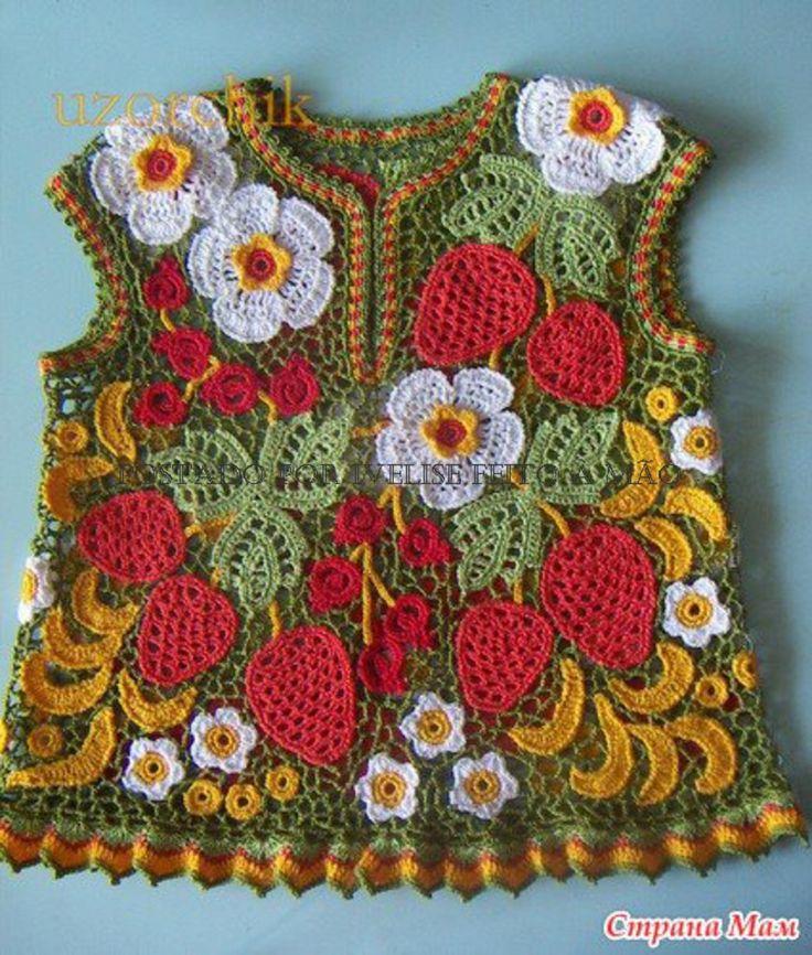 crochet irlandes para niñas
