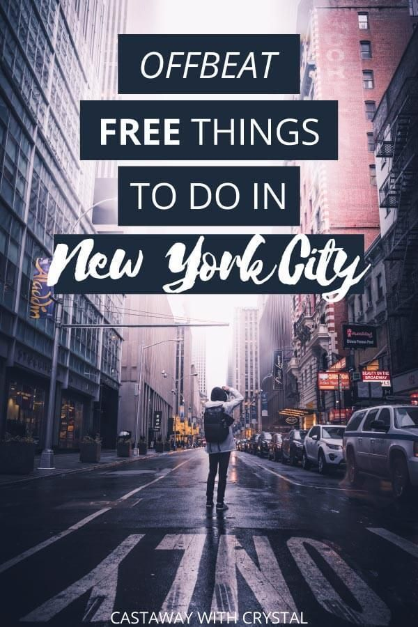 23 Offbeat Free Things To Do In New York City Usa Travel Pinterest
