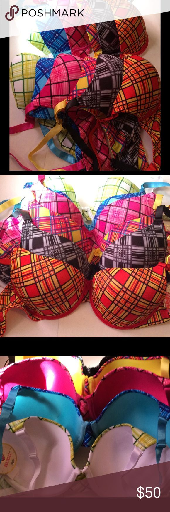 6 Underwire Bra's Demi Cup NWT 6 Underwire Bra's,... Demi Cup Padded/Lightly Lined. adjustable shoulder strap/ removable straps,.. 3 adjustable hooks. NWT The price is for 6 Bra's. Rubii Intimates & Sleepwear Bras