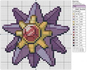 Birdie Stitching Pokemon Pattern - 121 Starmie