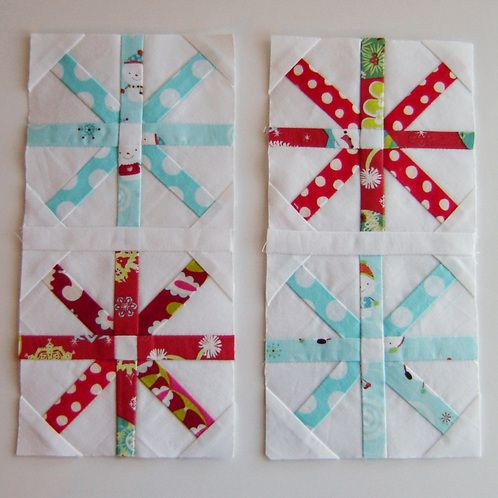 Christmas Fabric Bee - Bee Blocks - Marci Girl Designs @Jeri Fontenot Duncan you could go this one for the November meeting so you get a Christmassy quilt.