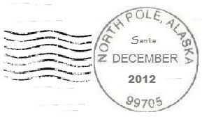 How to get a letter postmarked from the north pole for your child.