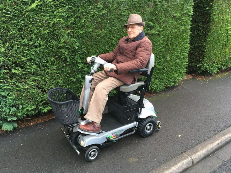 Mr Crisp looking very dapper on his Flyte mobility scooter find the model that suits you here http://contact.quingoscooters.com/social-mobility-scooters