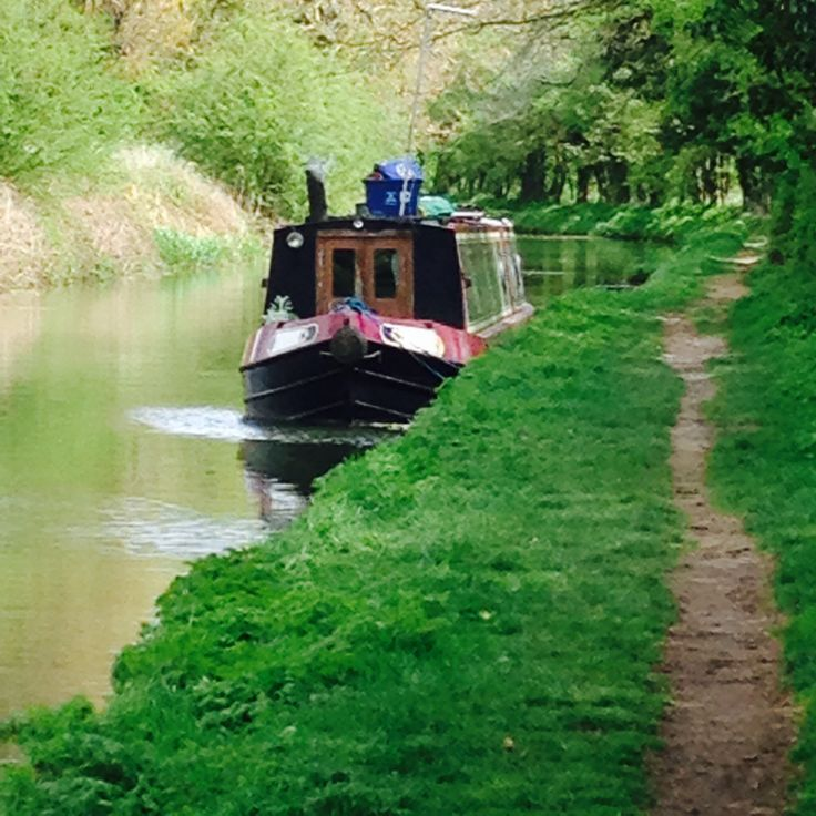 Moored on the towpath.