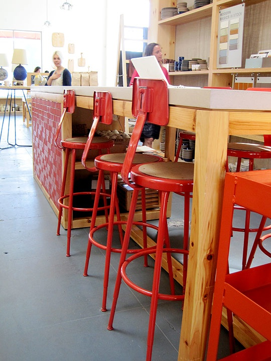 Heath Ceramics painted their National Public Seating stools orange! Just saw them in person today and theyu0027re awesome. | Furniture | Pinterest | Heath ... & Heath Ceramics painted their National Public Seating stools orange ... islam-shia.org