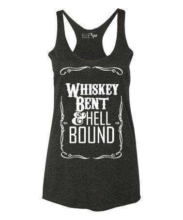 Look what I found on #zulily! Vintage Black 'Whiskey Bent & Hell Bound' Racerback Tank #zulilyfinds