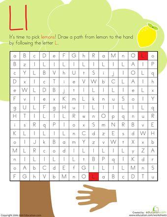 Letter Maze: L