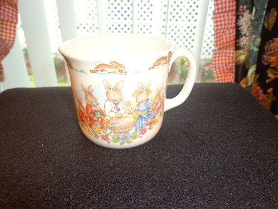 Items similar to Bunnykins Royal Doulton 1936 Collectible Baby Cup For Christening on Etsy & 50 best Bunnykins images on Pinterest | Royal doulton Dishes and ...