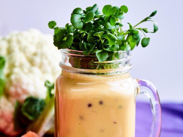 Sötpotatissoppa med blomkål och linser