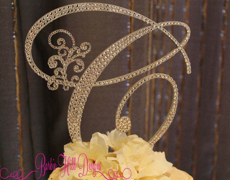 letter c wedding cake topper 6 quot monogram cake topper letter c via etsy 16832