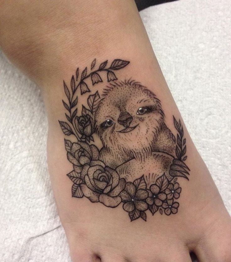 my first tattoo❤️ #tattoo #firsttattoo #sloth