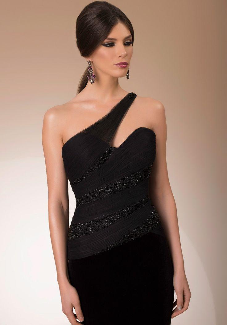 My Secret Style, one shoulder black luxury cocktail dress, 2016 My Secret by Bien Savvy