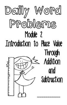 This FREE booklet contains all 28 application problems from Module 2 of A Story of Units (aka Engage NY, Eureka Math) for First Grade: Introduction to Place Value Through Addition and Subtraction Within 20.  It is in booklet form and has two problems per booklet half page.