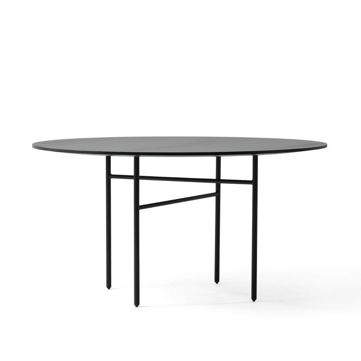 Snaregade Round Dining Table in Black design by Menu