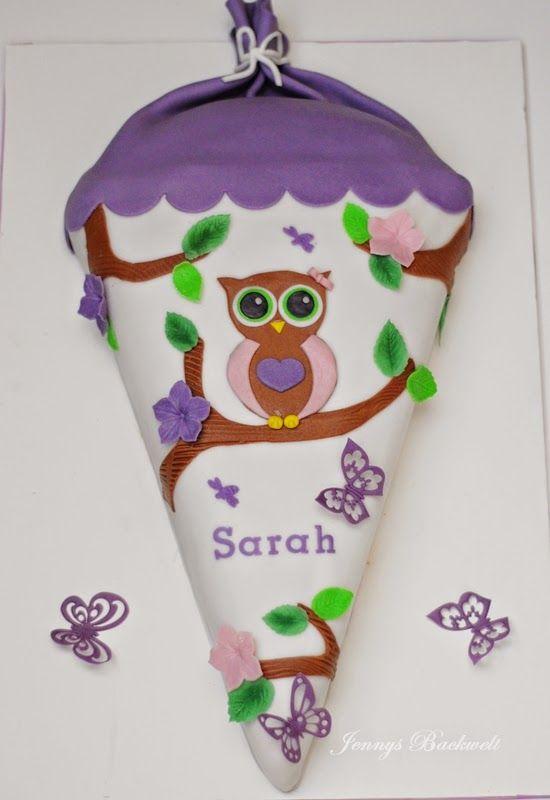 Jennys Backwelt Eine Schultte zum Schulanfang fr meine Tochter  Schulanfang  School cake