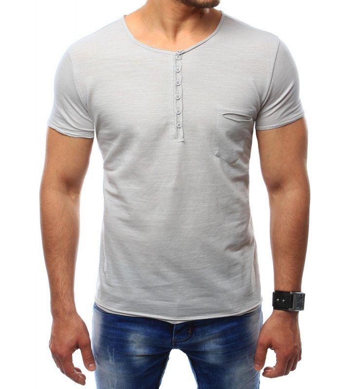 Pánske tričko s vreckami šedé