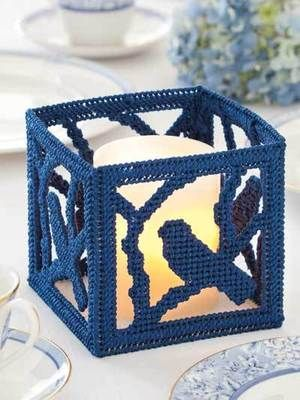 Tea Lights in Plastic Canvas Patterns Lighthouse Owl Cand... - bidStart (item 27878611 in Everything Else... Plastic Canvas Patterns)