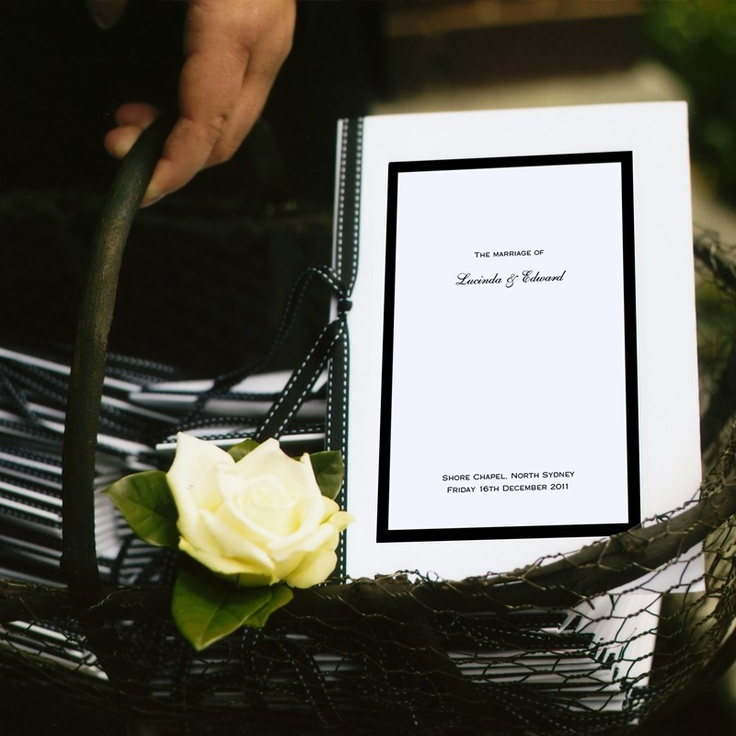 Lucinda and Edward Order of Service - Stationery by Papier d'Amour
