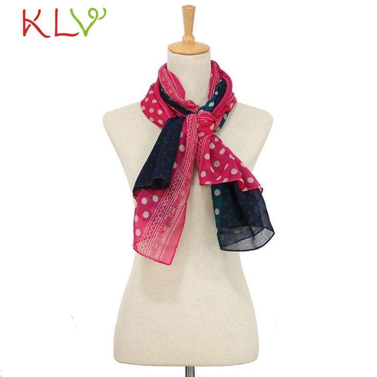 Stylish Fashion Women Ladies Chiffon Dot Print Voile Chiffon Scarf Scarves Chevron Infinity Scarves Femme No
