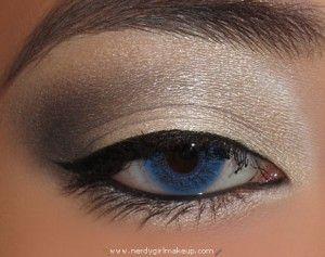 eyeshadow: Eye Makeup, Eye Shadows, Winter Looks, Neutral Eyeshadows, Winter Makeup, Blue Eye, Makeup Looks, Smokey Eye, Natural Eye