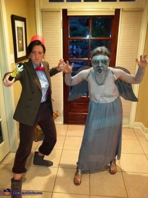The Doctor and a Weeping Angel - Halloween Costume Contest via @costume_works