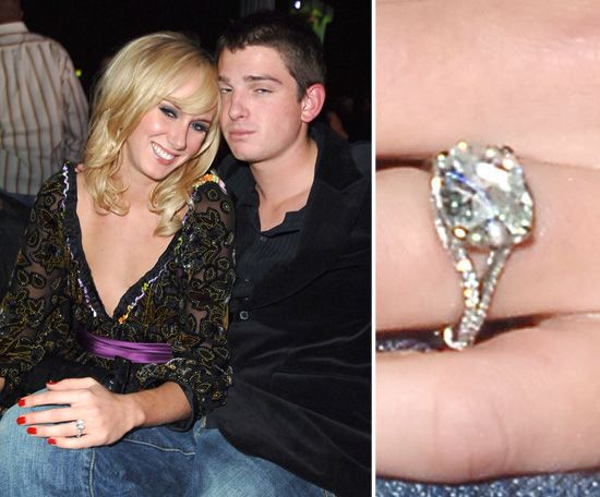 Kimberly Stewart: Kimberly Stewart's 2005 engagement to Laguna Beach's Talan Torriero was marked with a five-carat diamond Neil Lane ring.