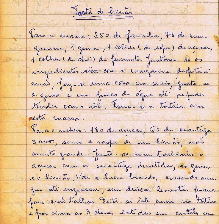 As Receitas da Avó Helena e da Avó Eduarda: Torta de Limão